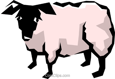 Sheep Royalty Free Vector Clip Art illustration anim0865