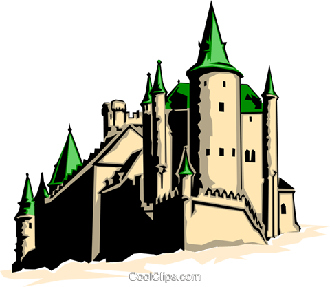 Castle Royalty Free Vector Clip Art illustration arch0102