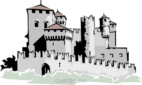 Castle Royalty Free Vector Clip Art illustration arch0103