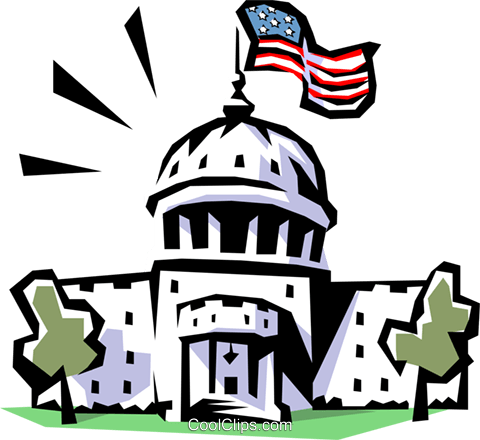Capitol building Royalty Free Vector Clip Art illustration arch0297