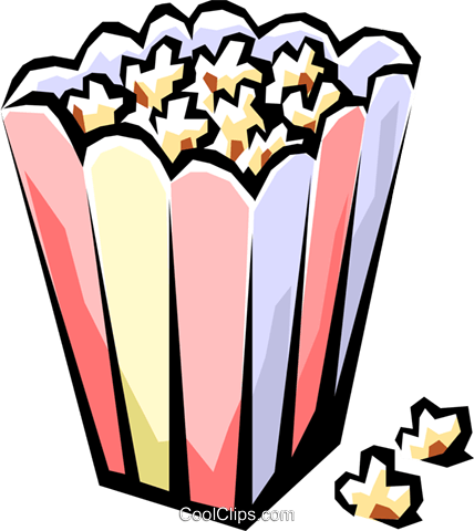 Popcorn Royalty Free Vector Clip Art illustration arts0209