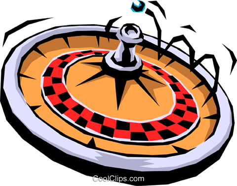 Roulette wheel Royalty Free Vector Clip Art illustration busi0602
