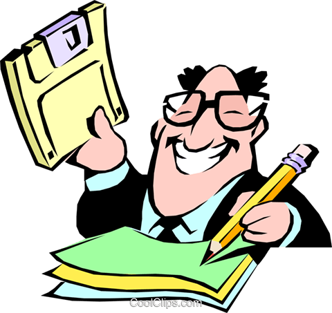 Cartoon Büro Vektor Clipart Bild cart0203