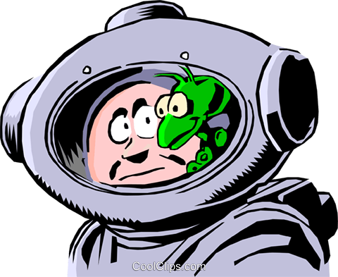 Cartoon spacemen Royalty Free Vector Clip Art illustration cart0234