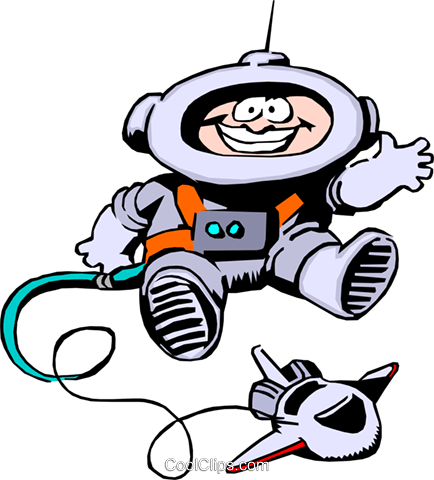 Cartoon spacemen Royalty Free Vector Clip Art illustration cart0242