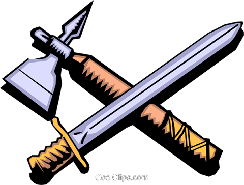 Cartoon weapons Royalty Free Vector Clip Art illustration cart0268