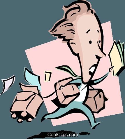 卡通人跑 免版税矢量剪贴画插图