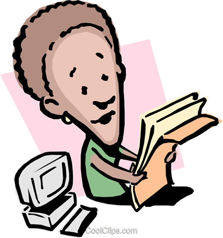 Cartoon lady with paperwork Royalty Free Vector Clip Art illustration cart0843