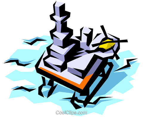 Drilling platform Royalty Free Vector Clip Art illustration envi0144