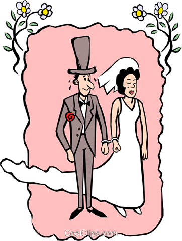 Wedding couple Royalty Free Vector Clip Art illustration even0432