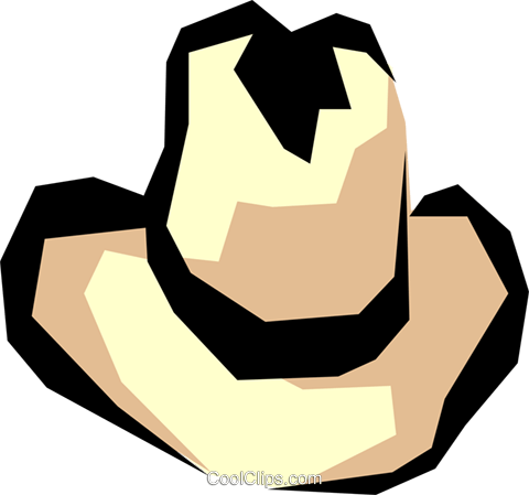 Cowboy hat Royalty Free Vector Clip Art illustration hous0666