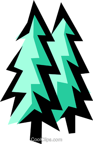Fir trees Royalty Free Vector Clip Art illustration natu0400