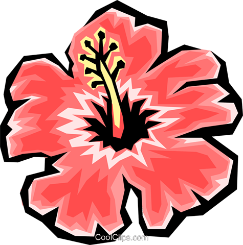 Flowers Royalty Free Vector Clip Art illustration natu0401