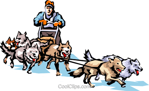 dog sledding royalty free vector clip art illustration peop1350 rh search coolclips com dog sled team clipart dog sled team clipart