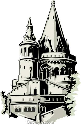 Churches Royalty Free Vector Clip Art illustration arch0104