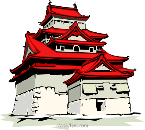 Pagoda Royalty Free Vector Clip Art illustration arch0106