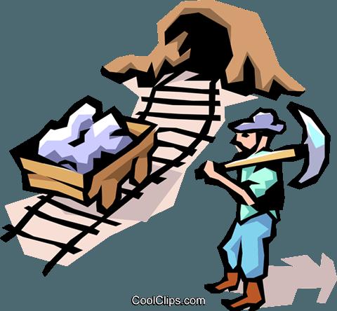 矿工 免版税矢量剪贴画插图