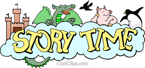Story time Royalty Free Vector Clip Art illustration even0367