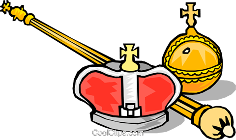 King's crown Royalty Free Vector Clip Art illustration hous0668