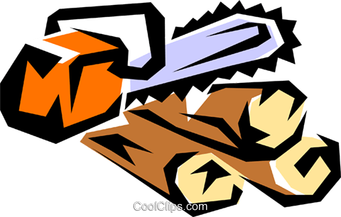 Chain saw Royalty Free Vector Clip Art illustration natu0092
