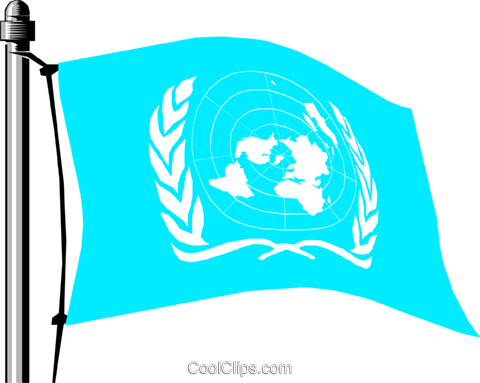 United Nations flag Royalty Free Vector Clip Art illustration worl0131