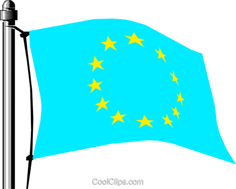 European Economic Community flag Royalty Free Vector Clip Art illustration worl0132