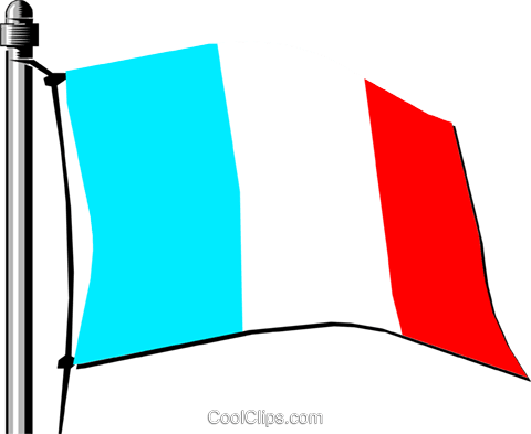 France flag Royalty Free Vector Clip Art illustration worl0134