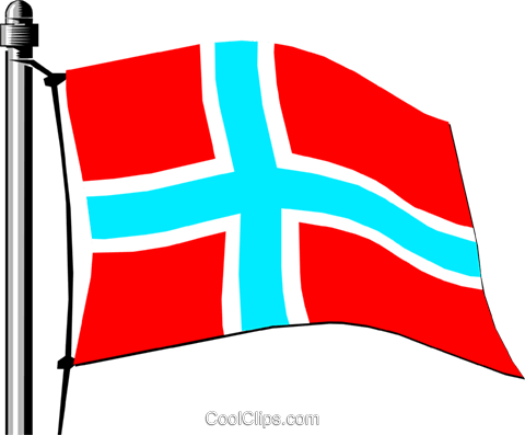 Norway flag Royalty Free Vector Clip Art illustration worl0137