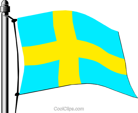Sweden flag Royalty Free Vector Clip Art illustration worl0138