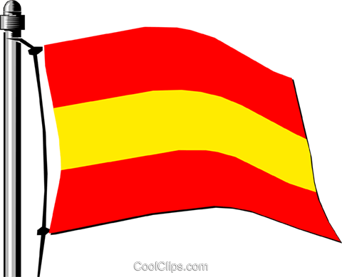 Spain flag Royalty Free Vector Clip Art illustration worl0140