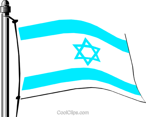 Israel flag Royalty Free Vector Clip Art illustration worl0141