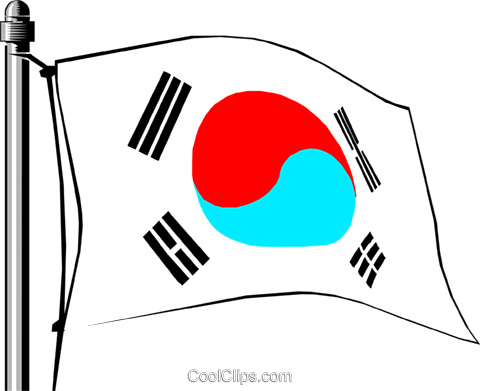 Korea flag Royalty Free Vector Clip Art illustration worl0145