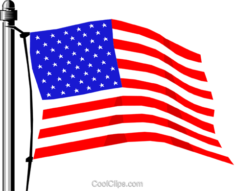 United States flag Royalty Free Vector Clip Art illustration worl0147