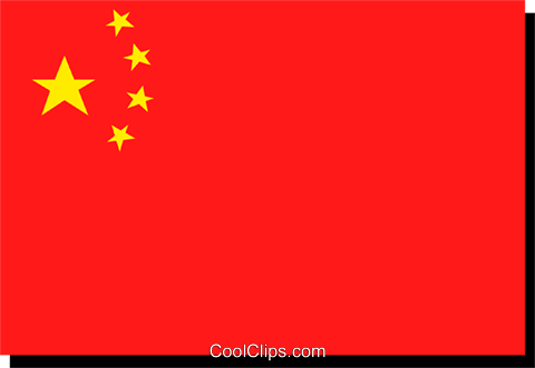 China flag Royalty Free Vector Clip Art illustration worl0168