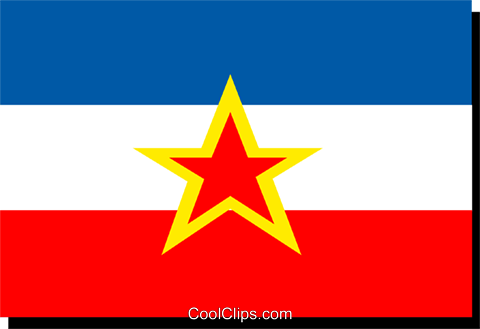 Yugoslavia flag Royalty Free Vector Clip Art illustration worl0183