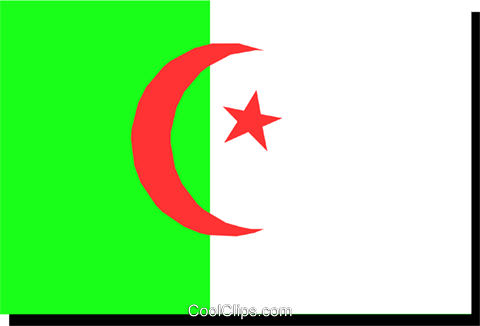 Algeria flag Royalty Free Vector Clip Art illustration worl0198