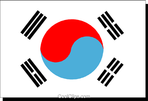 Korea flag Royalty Free Vector Clip Art illustration worl0199