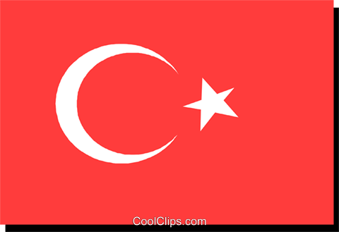 Turkey flag Royalty Free Vector Clip Art illustration worl0201