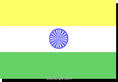 India flag Royalty Free Vector Clip Art illustration worl0202