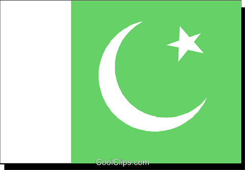 Pakistan flag Royalty Free Vector Clip Art illustration worl0203