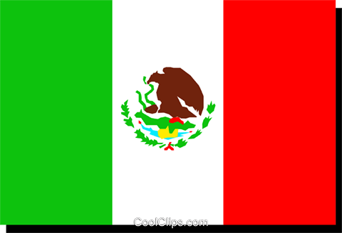 Mexico flag Royalty Free Vector Clip Art illustration worl0205