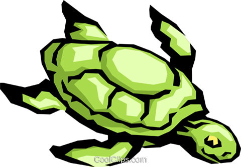 Sea turtle Royalty Free Vector Clip Art illustration anim0419