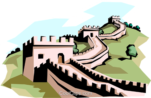 The Great Wall of China Royalty Free Vector Clip Art illustration arch0117