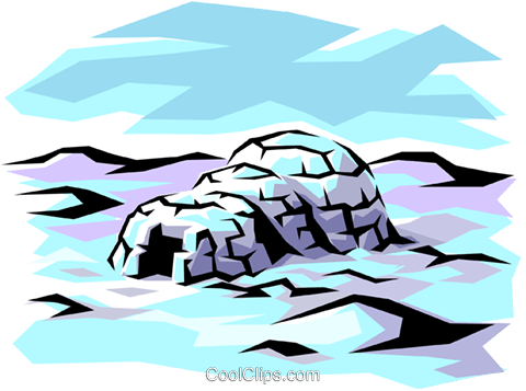 Igloo Royalty Free Vector Clip Art illustration arch0121