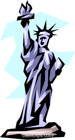 Statue of Liberty Royalty Free Vector Clip Art illustration arch0302