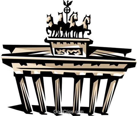 Brandenburg Gate Royalty Free Vector Clip Art illustration arch0303