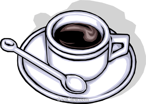 Cup of coffee Royalty Free Vector Clip Art illustration food0123