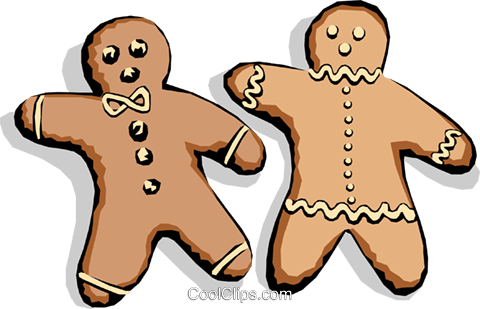 Gingerbread men Royalty Free Vector Clip Art illustration food0131