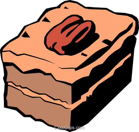 Cakes Royalty Free Vector Clip Art illustration food0149