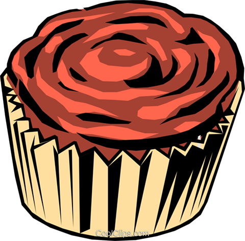 Chocolate Cupcake Royalty Free Vector Clip Art illustration food0153